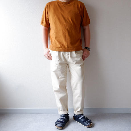 """""""秋の新作/新定番"""" HARVESTY (ハーベスティ)/CHINO EASY EGG LONG PANTS /アイボリー"""