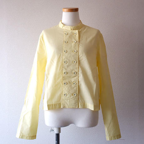 """CAERULA (カエルラ)/""""front double stand color blouse""""/yellow"""