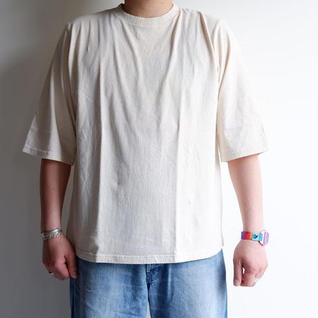 【無染色/Kinari】Jackman(ジャックマン)/1/2 Sleeve T-Shirt/Kinari