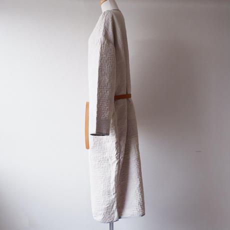 TIGRE BROCANTE (ティグルブロカンテ)/ヴィンテージクロス/Piping Over Coat/ホワイト