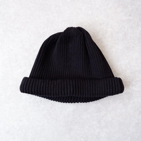 RoToTo(ロトト)/cotton rollup beanie /black