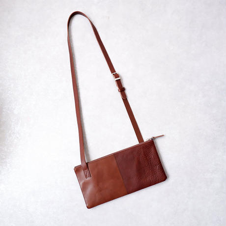 yes crafts(イエスクラフツ)/SHOULDER BAG 2PIECE/栃木レザー/brown