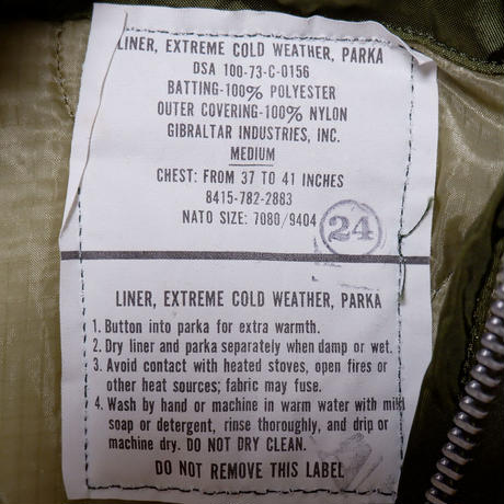 【US ARMY/dead stock】M-65 fishtail parka /3点フルセット/medium-1
