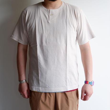 【一滴/Drop】Jackman(ジャックマン)/Henley neck T-Shirt/Drop Pink