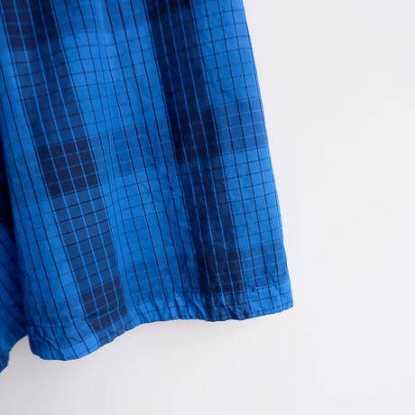 TIGRE BROCANTE( ティグルブロカンテ)/マドラスCK Mix フレアランダム パッチスカート/Blue