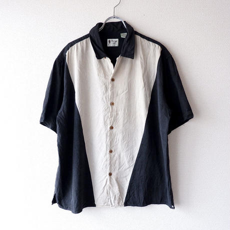 【FROM USA】short-sleeve Line shirts/used/LS-11