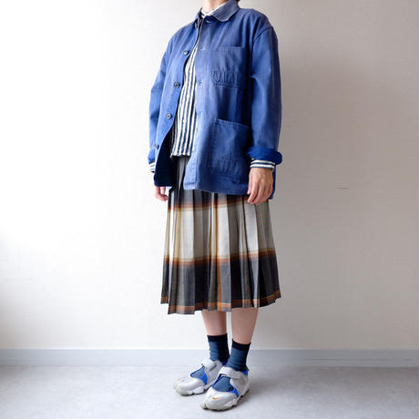 【USAより】wool pleats reversible skirt/USA古着/used