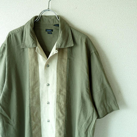 【FROM USA】short-sleeve Line shirts/used/LS-8
