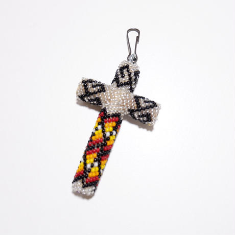 ☆大きめサイズが入荷☆INDIAN JEWELRY/ beads cross necklace top/navajo/ silver