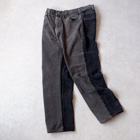 MADE  by Sunny side up(サニーサイドアップ)/ 2for1 remake denim/front×back/black/size3