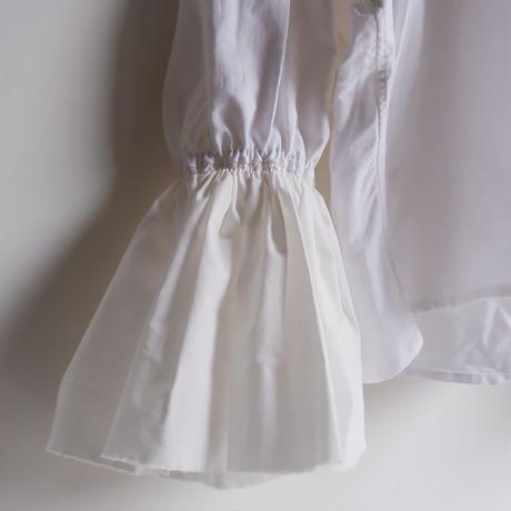 【ORIGNAL REMAKE】 Remake frill shirt/White-1