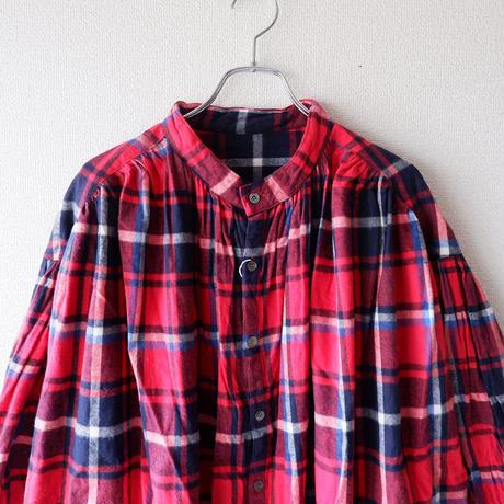 UNIVERSAL TISSU (ユニバーサルティシュ)/クラシックギャザーシャツドレス/red check