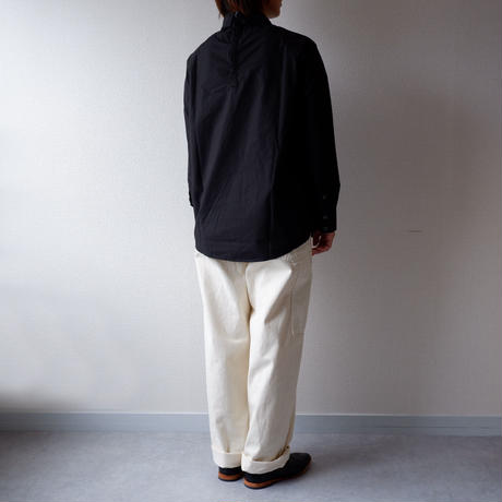 CAERULA (カエルラ)/typewriter cloth raglan prusslan shirt/black
