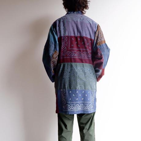 "SLOW HANDS(スローハンズ)/""Bandana pw shirt coat""/size:L/ice gray"