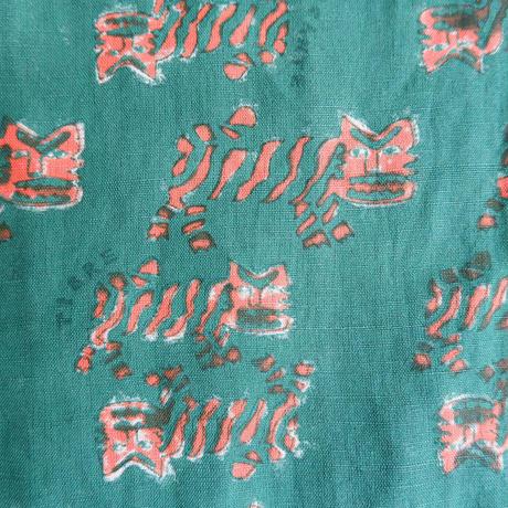 TIGRE BROCANTE(ティグルブロカンテ)/ブロックプリント タゴサク パンツ /グリーン