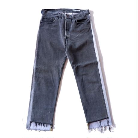 Sunny side up(サニーサイドアップ)/2 for 1 Front Low Black Denim /size:M/3-A