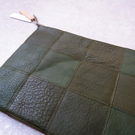 yes crafts/SQUARE POUCH-(L) / スクエア ポーチL/dark Green