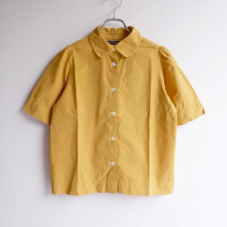TIGRE BROCANTE (ティグルブロカンテ)/タイプライター丸衿パフスリーブシャツ/Gold