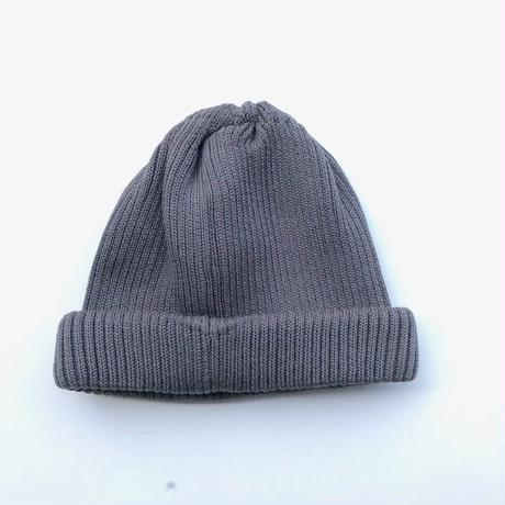 RoToTo(ロトト)  cotton rollup beanie /CHARCOAL