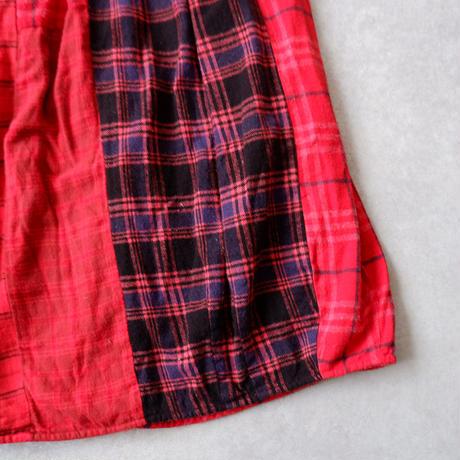 TIGRE BROCANTE( ティグルブロカンテ)/ミックスネルチェックバレルロングスカート/Red