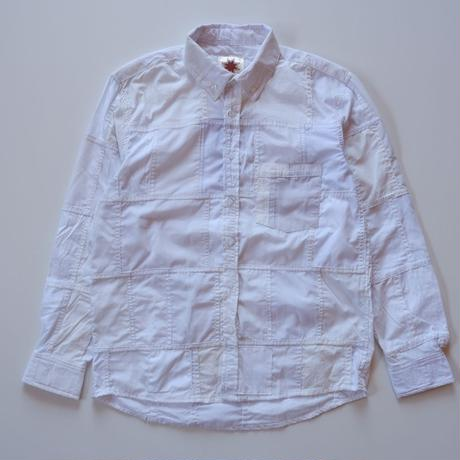 Nasngwam (ナスングワム) /remake white BD shirt/patchwork