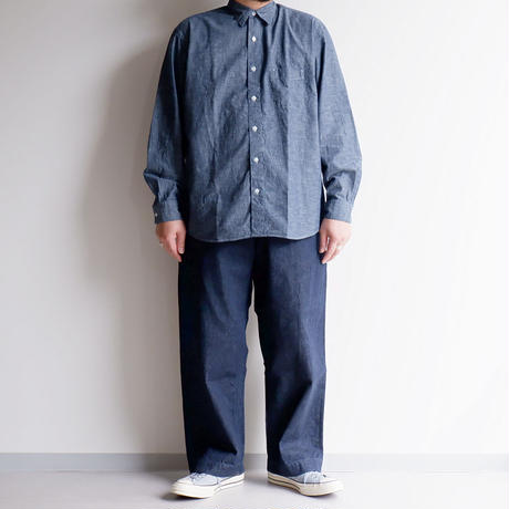 catta(カッタ)/REGULAR FIT GATHER SHIRTS/Blue