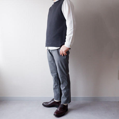 Jackman(ジャックマン) /stretch trousers/gray herringbone