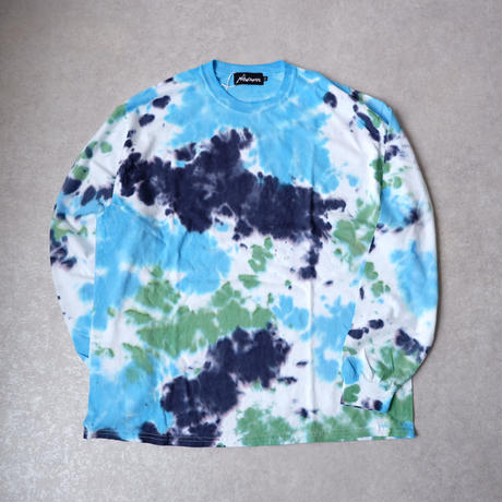 【tie-dye】 Nasngwam (ナスングワム) /EARTH TEE long-sleeve /MORNING /DEEP SEA/Blue