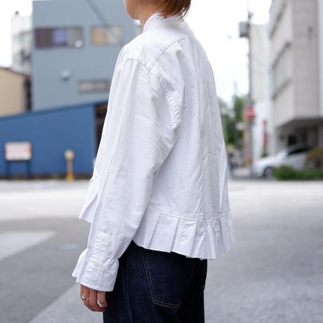 【ORIGNAL REMAKE】Remake gather frill shirt/White-1