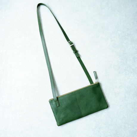 yes crafts(イエスクラフツ)/SHOULDER BAG 2PIECE/栃木レザー/green