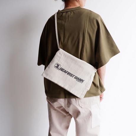 50S〜60S fabric /vintage Bank bag /Re.Sacoche/④