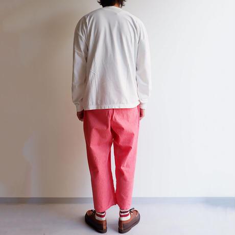TIGRE BROCANTE(ティグルブロカンテ)/ C/Li chambray タゴサクパンツ/Red
