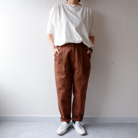 """""""秋の新作/新定番"""" HARVESTY (ハーベスティ)/CHINO EASY EGG LONG PANTS /ブラウン"""