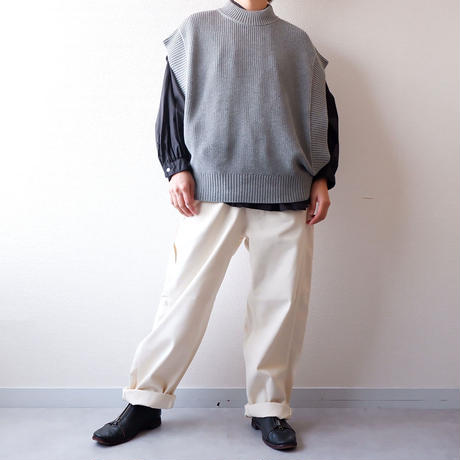 HARVESTY (ハーベスティ)BIG PAINTER DENIM PANTS / ivory
