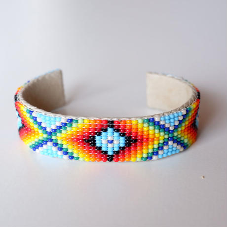 INDIAN JEWELRY/NAVAJO/Beads Bangle/wide