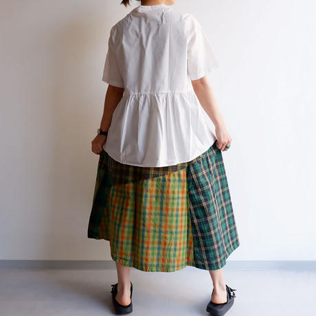 TIGRE BROCANTE (ティグルブロカンテ)/ Broad Rib Layer Blouse/White