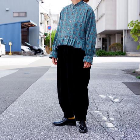 【ORIGNAL REMAKE】Remake gather frill shirt/Green