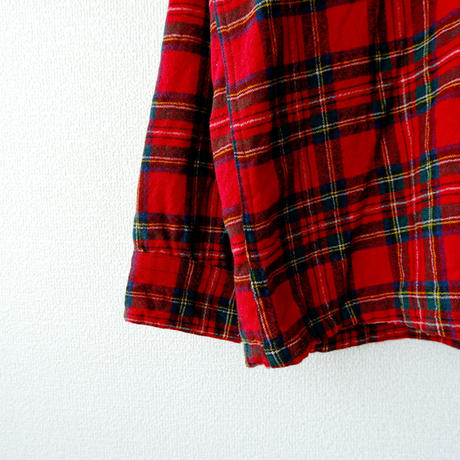 【USAより】PENDELTON(ペンドルトン)/wool box shirt/red×check/used