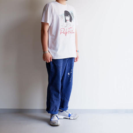 THRIFTY LOOK(スリフティールック)/Pulp Fiction Tee/White