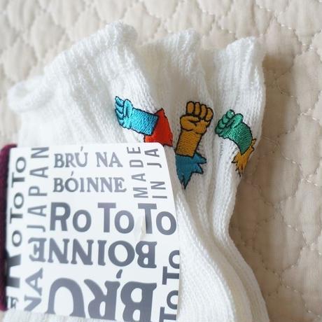 """RoToTo × BRU NA BOINNE /BRU ROTO 3 ソックス """"ロケットパンチ"""""""