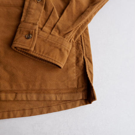 catta(カッタ)/CP GATHER SHIRTS-SUEDE/CAMEL