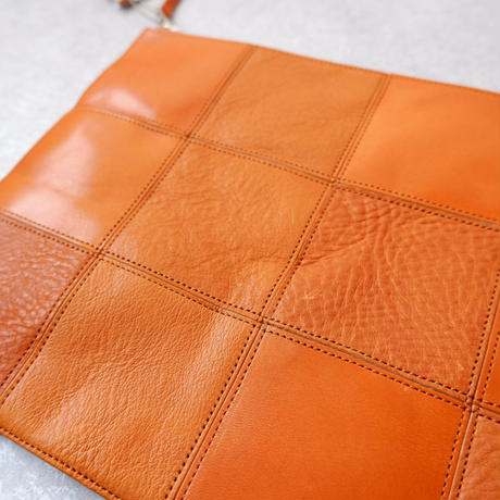 yes crafts/SQUARE POUCH-(L) / スクエア ポーチL/ camel-2