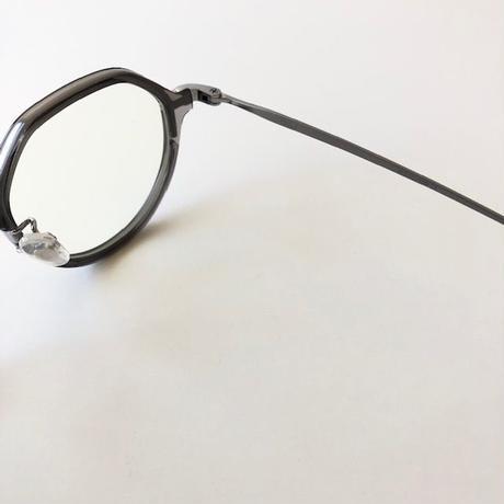 NEW. (ニュー) /TULI /C-1/clear grey /shirring silver