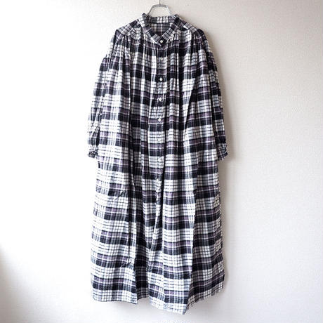 UNIVERSAL TISSU (ユニバーサルティシュ)/クラシックギャザーチェックシャツドレス/black check