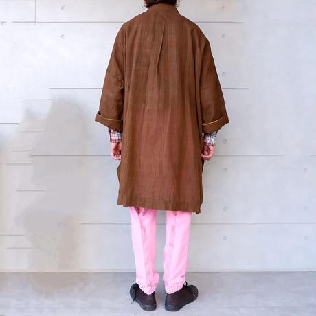 FUNSET OF ART (ファンセットオブアート)/泥渋シャンブレーTAISHOコート/ブラウン