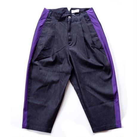 masterkey(マスターキー)SABI ワイドデニムクロップドパンツ/purple