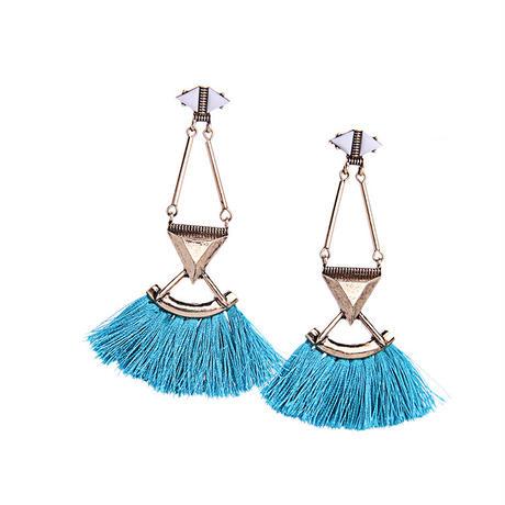turquoise blue tassel  pierce