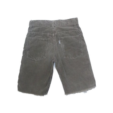 "vintage ""Levis"" big E cut off corduroy shorts"