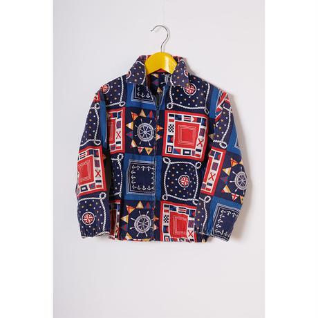 vintage patterned blouson