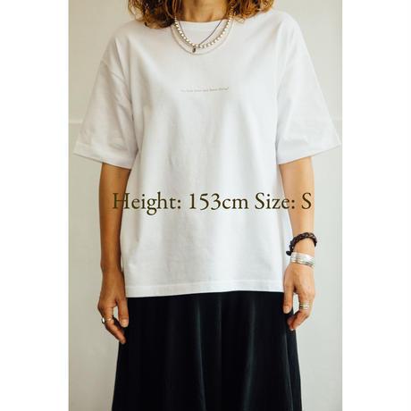 T-shirt サイズ感 Height: 153cmと165cmの場合